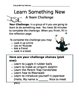 "The ""Learn Something New"" Challenge: A Team Building Activity"