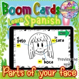 Learn Spanish: Parts of your face | BOOM Cards