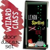 Learn Spelling Here October Door Decor Set Halloween Wizar
