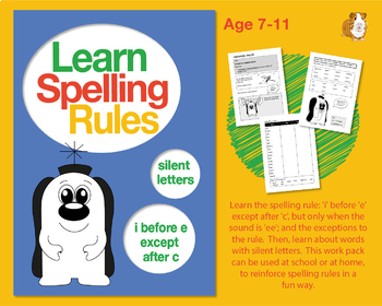 Learn Spelling Rules Challenges 12 & 13: 'i' Before 'e'... And Silent Letters