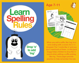 Learn Spelling Rules Challenge 3: Drop 'e' to add 'ing' (7-11 years)