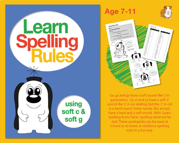 Learn Spelling Rules Challenge 9: Using Soft 'c' And Soft 'g' (7-11 years)