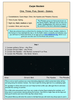 Learn Stars and Constellations using amazing night sky pictures. S1. April