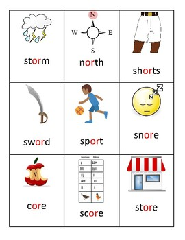 Phoneme flash cards- or- Robber Rs- R controlled vowels