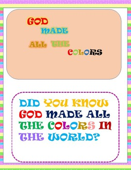 Learn The Colors Of The Rainbow From The Bible (Coloring Activities Printable)