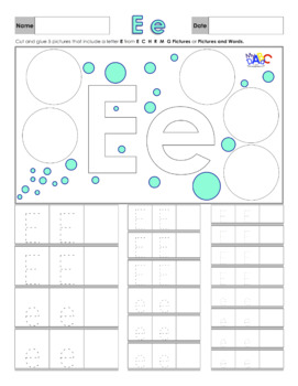 Learn The Letter E With Us | Printing and Picture Find Printables - MyABCDad