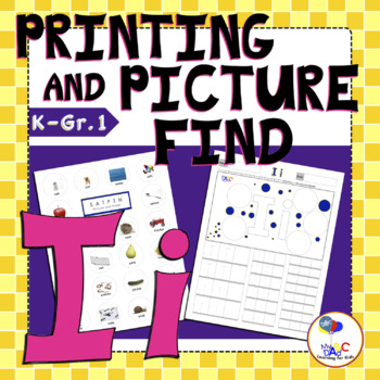 Learn The Letter Ii With Us | Printing and Picture Find Printables | MyABCDad