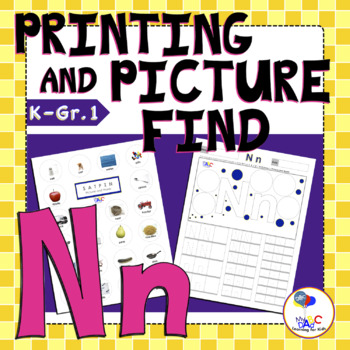 Learn The Letter N With Us | Printing and Picture Find Printables | MyABCDad