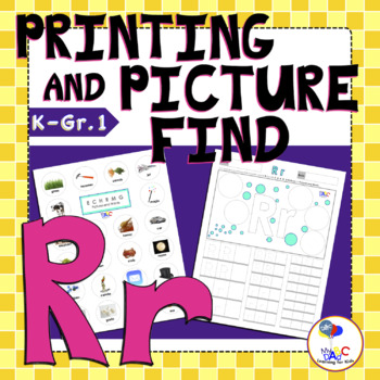 Learn The Letter R With Us | Printing and Picture Find Printables | MyABCDad