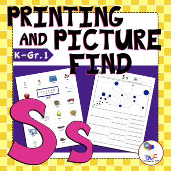 Learn The Letter S With Us | Printing and Picture Find Printables | MyABCDad