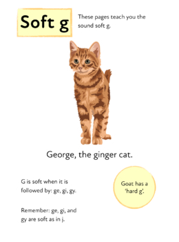 Learn The Phonic Sound Soft g (as in ginger) Learn To Read With Phonics