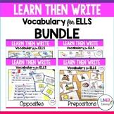 ESL Newcomer Activities-Learn then Write Bundle
