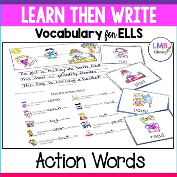 Learn Then Write-Action Words-Vocabulary for ELLs