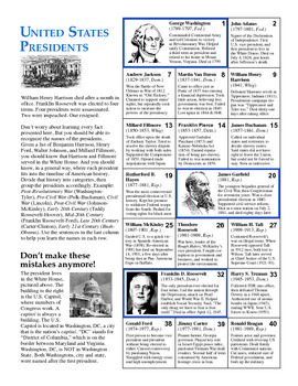 Learn This: The US Presidents in Two Pages
