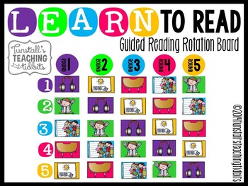Guided Reading Rotation Board Learn to Read
