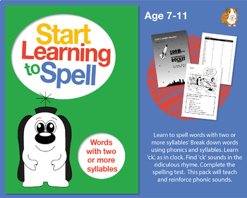 Learn To Spell Words With 2 Or More Syllables: Learn To Spell With Phonics 7-11