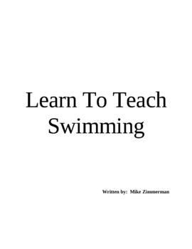 Learn To Teach Swimming (Lessons or Classes)