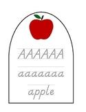 Learn To Write The Alphabet! Write And Wipe Alphabet Cards Freebie