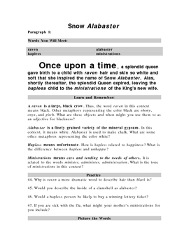 Learn Vocabulary Through Fairy Tales: Snow White