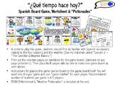 Learn Weather & Seasons in Spanish! Board Game, Worksheet
