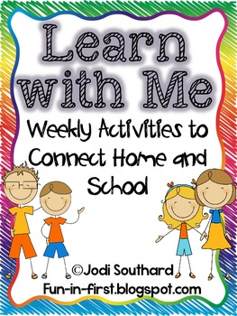 Learn With Me {Weekly Activities to Connect Home and School}