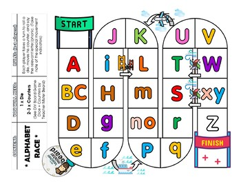 Learn Your ABCs *Alphabet Race* — Board Game Sample