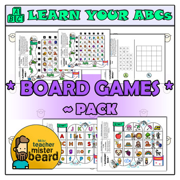 Learn Your ABCs *Board Games Pack*