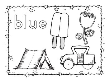 Learn Your Colors Coloring Sheets