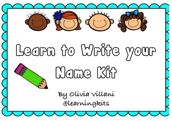 Editable Learn Your Name Kit- Foundation font
