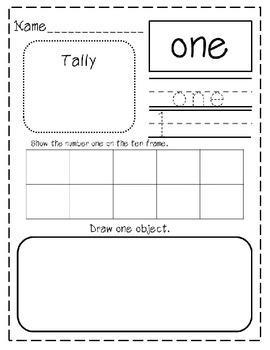 Learn Your Numbers Worksheets 0-30!