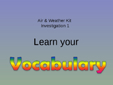 Air & Weather vocabulary Investigation 1