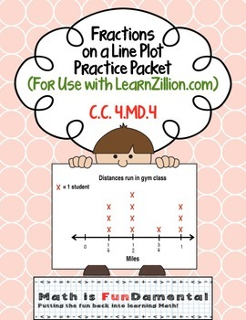 Fractions on a Line Plot Packet (for use with Learn Zillio