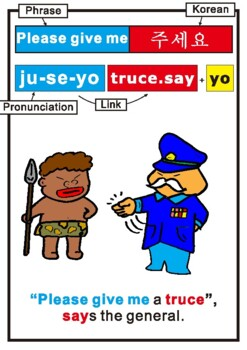 Learn a Korean Phrase and words using Mnemonics