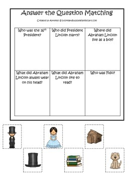 Learn about Abraham Lincoln. American history Answer the Question preschool.