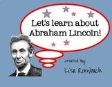 Learn about Abraham Lincoln SmartBoard lesson primary grades