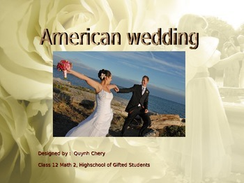 Learn about American Wedding - similar and different with