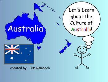 Learn about Cultures, Australia,  SmartBoard Lesson for Primary Grades