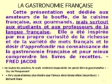 Learn about food in French (La cuisine française) - Lesson Plan