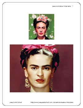 Learn about Frida Kahlo: K-6th Grade Biography and Art Lesson
