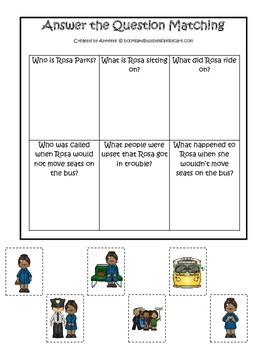 Learn about Rosa Parks. American history Answer the Questi