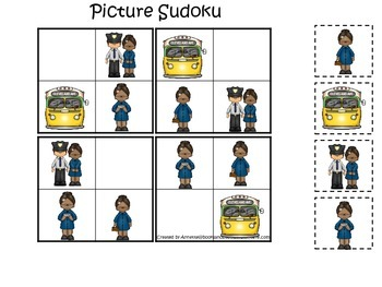 Learn about Rosa Parks.  An American history educational game.  Picture Sudoku.