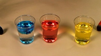 Learn about primary and secondary colours with food colouring