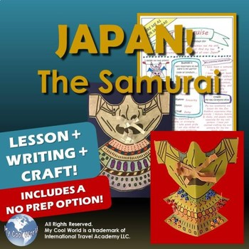 Learn about the Samurai in Feudal Japan! Includes Writing & Art & No Prep Option