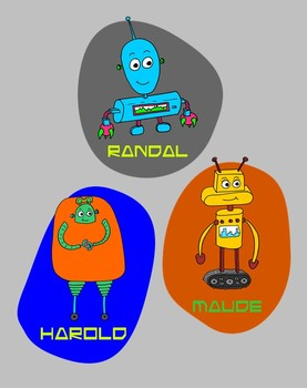 Learn and Grow with the Know-Bots - Robot Clip Art pack 01