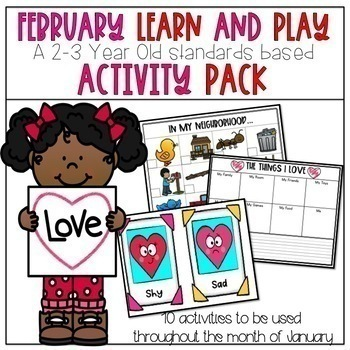 Learn and Play Activity Packs Growing Bundle-2/3 Year Old Standards Based Guide