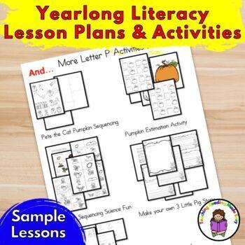 School Year of Kindergarten or Preschool Lessons & Activities