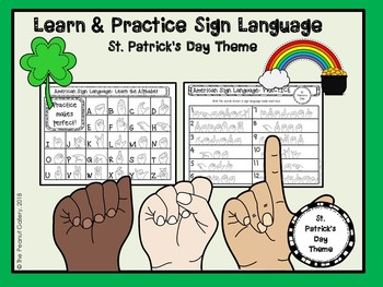Learn and Practice Sign Language ( St. Patrick's Day Theme)