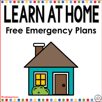 Learn at Home Emergency Distance Learning Plans for Kindergarten
