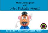 Learn body parts with Mr. Potato Head