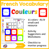 French colors - Vocabulary Picture Resource - les couleurs